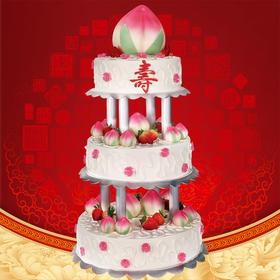 定制公司开业、周年庆、祝寿、生日会多层顶架蛋糕