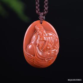 柿子红义薄云天雕刻件