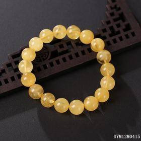 蜜蜡圆珠单圈手串 珠径约:11.6mm
