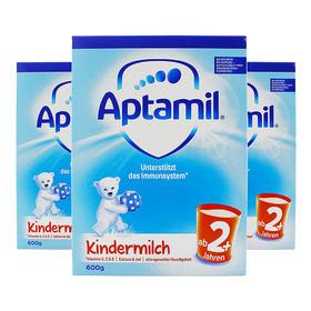 荷兰直邮 德国Aptamil爱他美婴幼儿奶粉 2+段 麦德龙版 600g(三罐装)