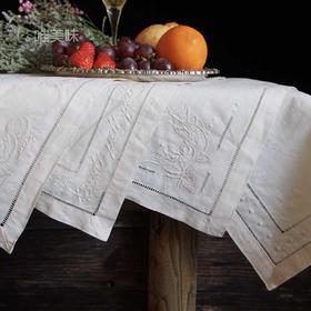 欧式棉麻纯手工 抽纱刺绣 复古餐巾 装饰巾 家宴 轰趴 节日必备 满包邮