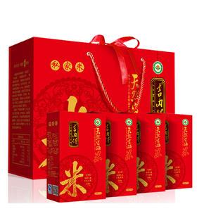 吉内得天然富硒米(有机食品)中国红礼盒5kg/盒