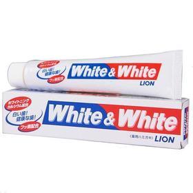 日本进口WHITE-WHITE美白牙膏150g祛牙垢烟渍牙周护理