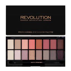 英国Makeup Revolution桃花16色眼影盘16g