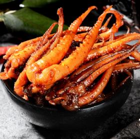 【四川特产】香辣鱿鱼须120g 海鲜卤味零食熟食即食好吃成都辣卤