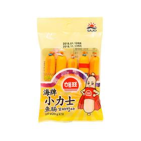韩国海牌小力士鳕鱼肠 儿童鱼肠宝宝零食进口休闲食品儿童辅食 100克*5包装