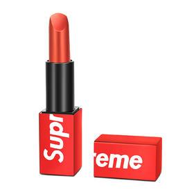supreme联名口红经典牛血色  全球首发金属壳滋润唇膏