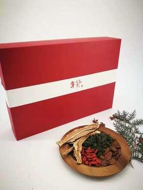 【吉祥三宝】礼盒:西洋参片、红参片、人参花、灵芝片、黑枸杞(任选三种共380g)