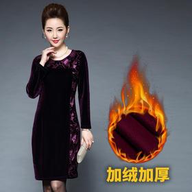 TZF-J6356Y新款丝绒镂空连衣裙TZF