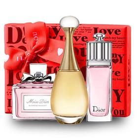 Dior/迪奥香水女士Q版淡香型真我甜心魅惑三件套礼盒套装小样3*5ml无喷头