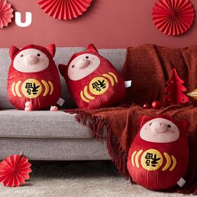 猪年福娃 舒柔卡通抱枕
