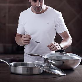 测试 康巴赫炒锅+煎锅