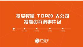投资数量 TOP20 知名大公司投资并购事件包