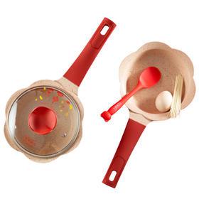韩国didinika宝宝辅食锅婴儿奶锅,红色新年款