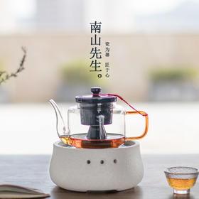 南山先生晓浪烧电陶炉蒸汽煮茶器 玻璃家用全自动泡茶壶茶具套装
