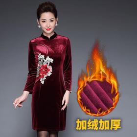TZF-J8135DL新款绣花修身连衣裙TZF