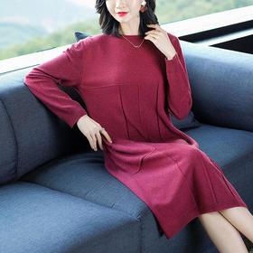 SHJS306-505新款纯色休闲连衣裙TZF