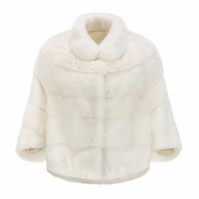 Covet 自有品牌 白色水貂皮草短外套