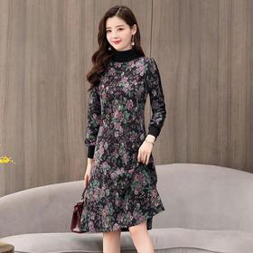 AN8960MLJL新款加绒印花连衣裙TZF