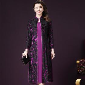 WL6170G新款时尚连衣裙套装TZF