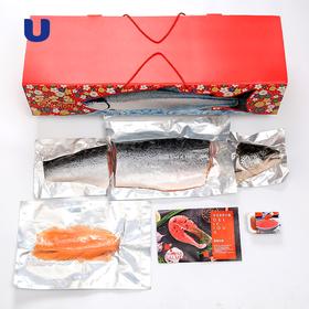 进口智利冰冻鲜三文鱼礼盒 整条海鲜