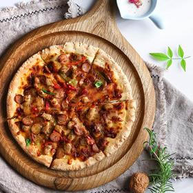 斑马木圆形披萨板