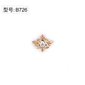 【美甲金属饰品】B726金底皇冠锆石金色弧面弧度