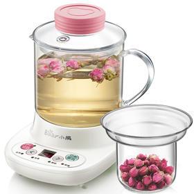 小熊(Bear)迷你养生壶自动加厚玻璃电热杯煮花茶壶 玻璃滤网 YSH-A03C5