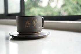 不杯不亢系列 —「放你去飞」光头仔咖啡杯 / 爱人最佳礼物 / 高级烫金图案陶瓷咖啡杯
