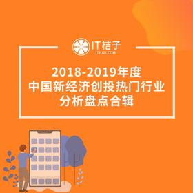 新品发售《2018-2019年度中国新经济创投热门行业分析盘点合辑》(电子版)