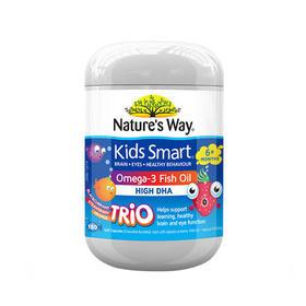 Nature's way佳思敏儿童深海鱼油180粒DHA爆浆三色鱼油(2瓶装)