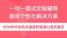 2019年中央机关遴选和选调公务员面试(6小时1对1辅导)