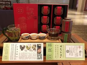 新年茶礼  梅岭毛尖特极3罐,梅岭红茶特级3罐  150g  高山有机茶