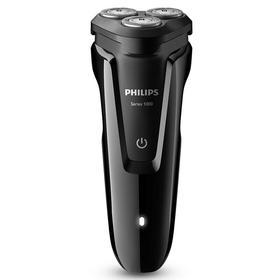 飞利浦Philips电动剃须刀全身水洗 充电式 三刀头 钢琴黑S1010