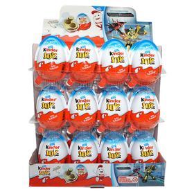 健达 奇趣蛋英文版男孩奇蛋进口巧克力儿童休闲零食新奇玩具 24粒装  香港直邮