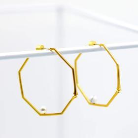 「無门」·庭竹系列·方·不对称耳环·现货