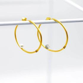 「無门」·庭竹系列·圆·不对称耳环·现货