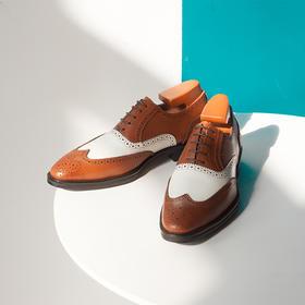 燕尾雕花布洛克绅士牛津皮鞋-含镶拼可选