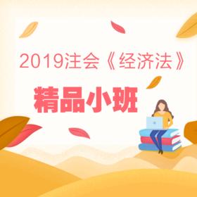 2019注会《经济法》精品小班