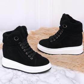 麦包包-英国Clous Krause 韩版百搭学生棉鞋内增高厚底短靴