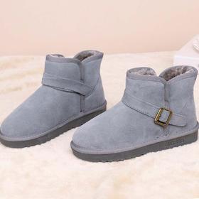 麦包包-英国Clous Krause 雪地靴女短靴短筒防滑加厚加绒保暖学生牛皮棉鞋子