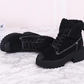 麦包包-英国Clous Krause 隐形内增高女士时尚雪地靴