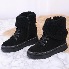 麦包包-英国Clous Krause 女鞋加绒圆头短靴子百搭雪地靴潮