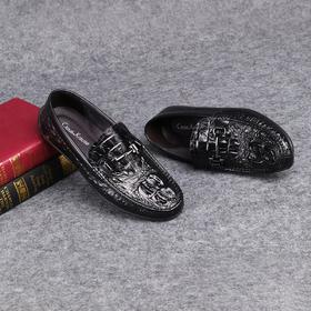 麦包包-英国Clous Krause 高档男鞋牛皮鞋舒适透气驾车鞋豆豆鞋男士休闲皮鞋