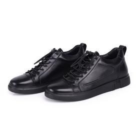麦包包-英国Clous Krause 新款日常休闲百搭皮鞋松紧带套脚皮鞋低帮平底板鞋