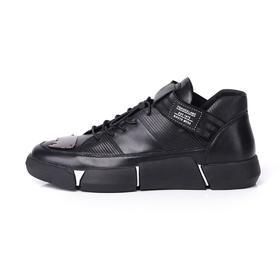 麦包包-英国Clous Krause 牛皮高帮休闲鞋韩版板鞋青年男内增高
