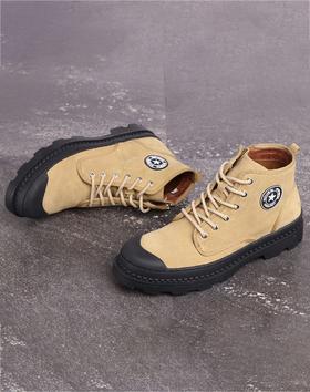 麦包包-英国Clous Krause 男靴子中帮马丁靴男英伦风沙漠靴学生潮流高帮鞋男