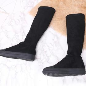 麦包包-英国Clous Krause 过膝瘦腿单靴时尚冬款厚底显瘦高筒弹力靴