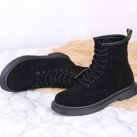 麦包包-英国Clous Krause 马丁靴女反毛皮8孔英伦高帮鞋女靴短靴