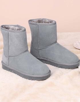 麦包包-英国Clous Krause 厚底保暖经典中筒羊皮毛一体雪地靴女靴